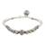 Silver beaded bracelet, 'Lotus Hill Tribe' - Floral Karen Silver Beaded Bracelet from Thailand (image 2c) thumbail