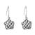 Sterling silver dangle earrings, 'Intricate' - Handcrafted Sterling Silver Openwork Star Dangle Earrings (image 2a) thumbail
