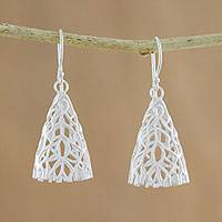 Sterling silver dangle earrings Coral Cones (Thailand)