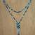 Agate beaded lariat necklace, 'Festive Holiday in Grey' - Agate Beaded Lariat Necklace in Grey from Thailand (image 2d) thumbail