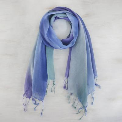 Cotton scarves, Summer Morning (pair)