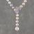 Cultured pearl Y-necklace, 'Beautiful Butterfly' - Cultured Pearl Butterfly Y-Necklace from Thailand thumbail
