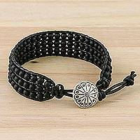 Glass bead wristband bracelet,