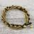 Tiger's eye beaded torsade bracelet, 'Elegant Celebration' - Tiger's Eye Adjustable Beaded Bracelet from Thailand thumbail