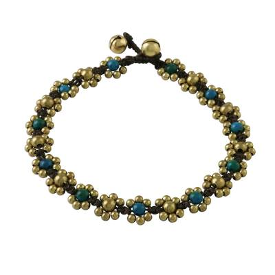 Serpentine Adjustable Beaded Anklet from Thailand