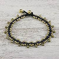 Lapis lazuli beaded anklet,