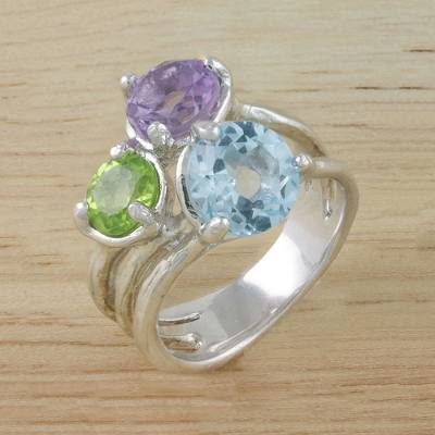Multi-gemstone cocktail ring, Candy Sparkle