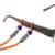 Beaded cotton eyeglasses cord, 'Focus in Orange' - Adjustable Beaded Cotton Eyeglasses Cord in Orange (image 2d) thumbail