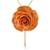 Gold plated natural flower lariat necklace, 'Ginger Garden Rose' - Dark Orange Natural Rose Gold-Plated Lariat Necklace (image 2a) thumbail