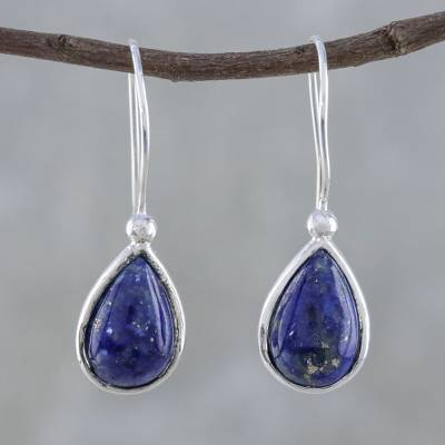 Lapis lazuli drop earrings, Galaxy Drops