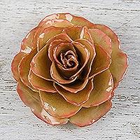 Natural rose brooch,