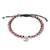 Rhodonite beaded macrame bracelet, 'Sweet Meditation' - Rhodonite Beaded Macrame Om Bracelet from Thailand (image 2a) thumbail