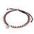 Rhodonite beaded macrame bracelet, 'Sweet Meditation' - Rhodonite Beaded Macrame Om Bracelet from Thailand (image 2d) thumbail