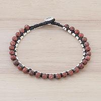 Jasper beaded bracelet, 'Exotic Embrace' (Thailand)