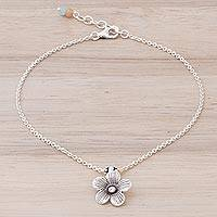 Silver charm anklet Charm in Bloom (Thailand)