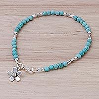 Magnesite charm bracelet, 'Sky Garden' (Thailand)