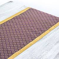 Cotton and silk blend table runner, 'Regal Yok Dok' - Handwoven Yok Dok-Syle Cotton and Silk Blend Table Runner