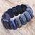 Lapis lazuli beaded stretch bracelet, 'Just Glow' - Lapis Lazuli Stretch Bracelet from Thailand thumbail