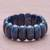 Lapis lazuli beaded stretch bracelet, 'Just Glow' - Lapis Lazuli Stretch Bracelet from Thailand (image 2b) thumbail