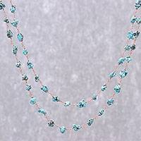 Magnesite long link necklace, 'Sky Magnificence' - Magnesite Link Necklace from Thailand