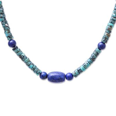 Lapis Lazuli Beaded Necklace from Thailand