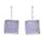Rhodium plated chalcedony drop earrings, 'Gleaming Squares' - Square Rhodium Plated Chalcedony Drop Earrings from Thailand (image 2a) thumbail