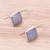 Rhodium plated chalcedony drop earrings, 'Gleaming Squares' - Square Rhodium Plated Chalcedony Drop Earrings from Thailand (image 2b) thumbail