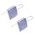 Rhodium plated chalcedony drop earrings, 'Gleaming Squares' - Square Rhodium Plated Chalcedony Drop Earrings from Thailand (image 2c) thumbail