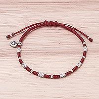 Silver beaded bracelet,
