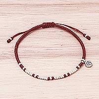 Featured review for Silver beaded bracelet, Bohemian Life in Red