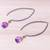 Gold accented amethyst dangle earrings, 'Midnight Meadow' - Gold Accent Amethyst Dangle Earrings from Thailand (image 2b) thumbail