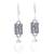 Chalcedony dangle earrings, 'Facets and Folds' - Chalcedony and Textured Sterling Silver Dangle Earrings (image 2a) thumbail