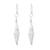 Sterling silver dangle earrings, 'Thai Diamonds' - Diamond-Shaped Sterling Silver Dangle Earrings (image 2a) thumbail