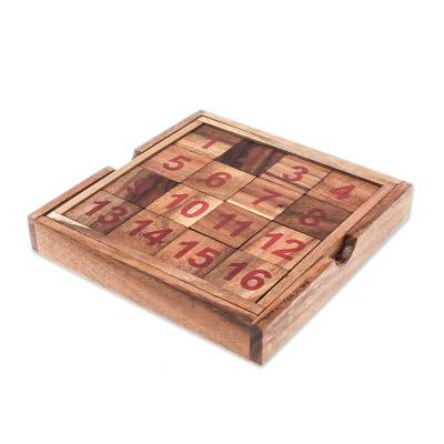 Handmade Raintree Wood Puzzle from Thailand