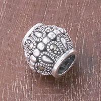 Sterling silver bracelet bead,