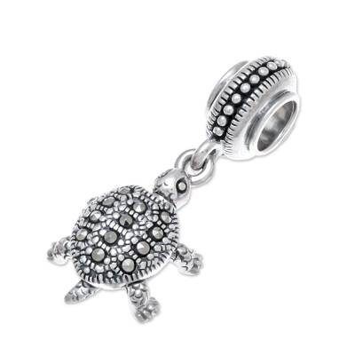 Sterling Silver Turtle Bracelet Charm from Thailand