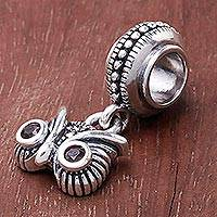 Onyx and marcasite bracelet charm,