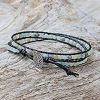 Quartz beaded wrap bracelet,