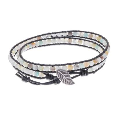 Natural Quartz Beaded Wrap Bracelet from Thailand