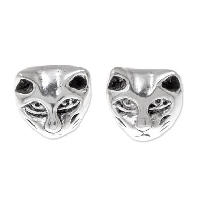 Sterling Silver Cat Stud Earrings from Thailand