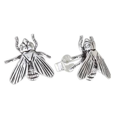 Sterling Silver Bumble Bee Stud Earrings from Thailand