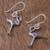 Sterling silver dangle earrings, 'Flamingo' - Sterling Silver Flamingo Dangle Earrings from Thailand (image 2b) thumbail
