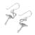 Sterling silver dangle earrings, 'Flamingo' - Sterling Silver Flamingo Dangle Earrings from Thailand (image 2c) thumbail