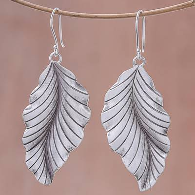 Sterling silver dangle earrings, Beautiful Nature