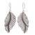 Sterling silver dangle earrings, 'Beautiful Nature' - Sterling Silver Leaf Dangle Earrings from Thailand (image 2a) thumbail