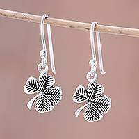 Featured review for Sterling silver dangle earrings, The Clover