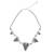 Glass beaded pendant necklace, 'Triangle Love' - Triangle Pattern Glass Beaded Pendant Necklace from Thailand (image 2d) thumbail