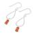 Carnelian dangle earrings, 'Fiery Shower' - Drop-Shaped Carnelian Dangle Earrings from Thailand (image 2c) thumbail