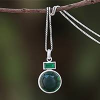 Agate pendant necklace, 'Beautiful Gleam' - Green Agate Pendant Necklace Crafted in Thailand