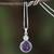 Amethyst and moonstone pendant necklace, 'Mystical Star' - Amethyst and Moonstone Pendant Necklace from Thailand thumbail